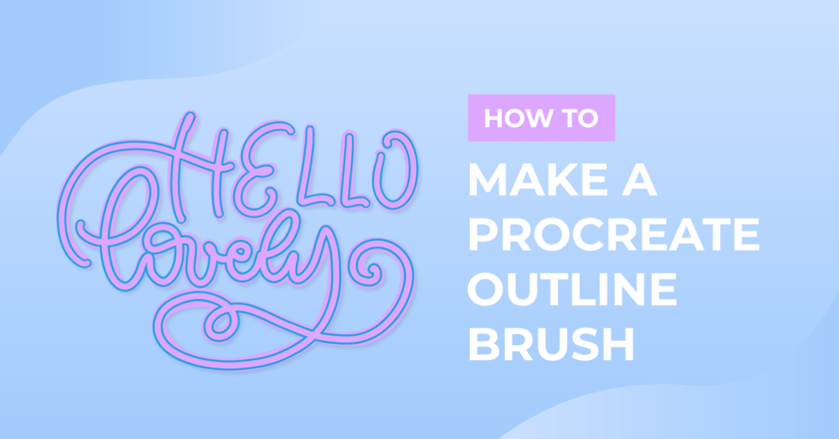 How to Make a Procreate Outline Brush