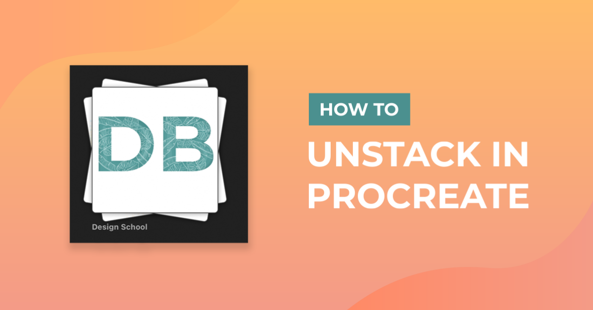How to Unstack in Procreate