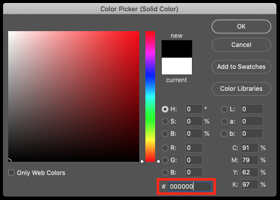 Select color in Photoshop