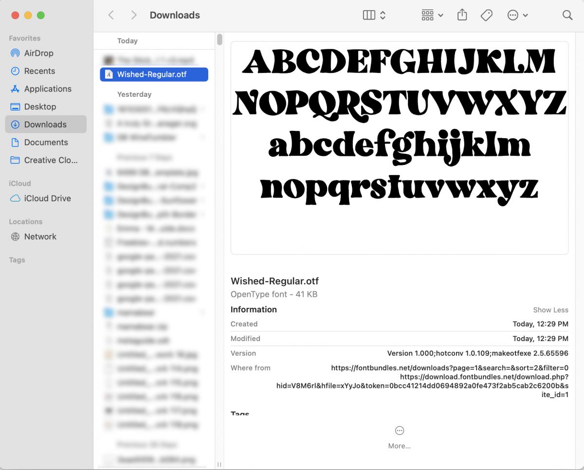 Installing a Font on Mac