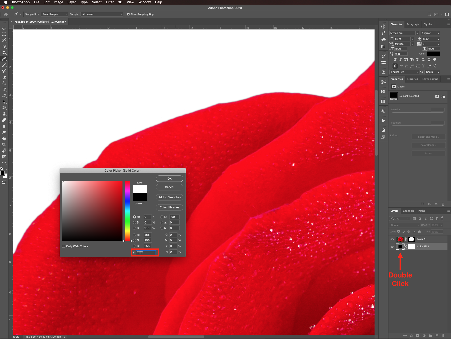 Change color in Photoshop